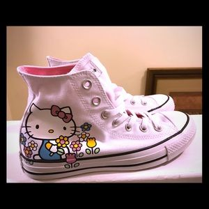 Floral Hello Kitty Converse